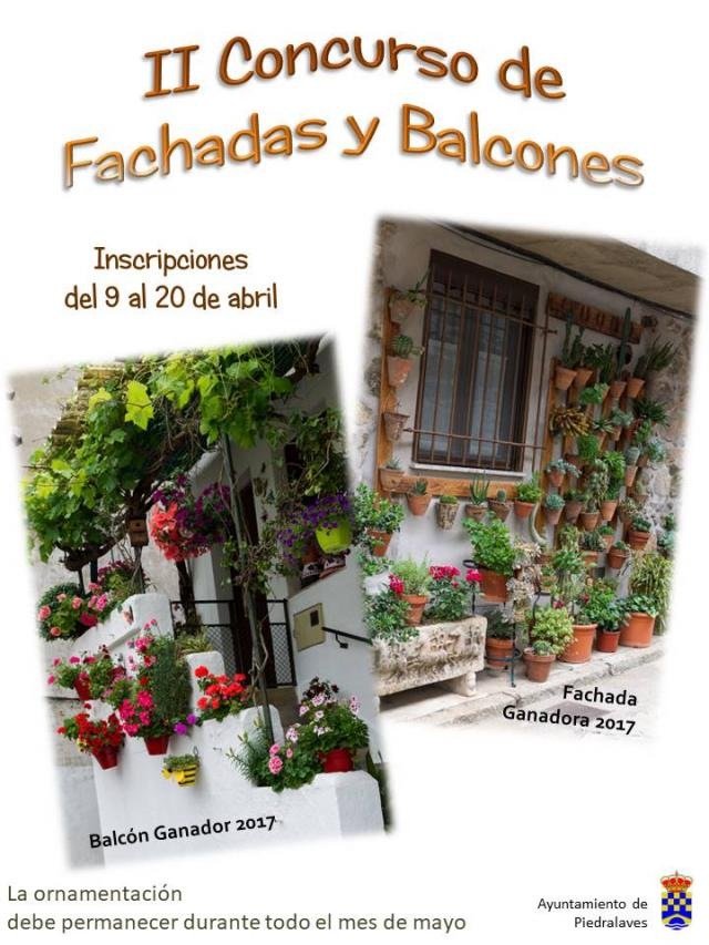 Cartel Concurso Fachadas y Balcones
