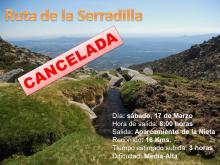 ruta cancelada serradilla